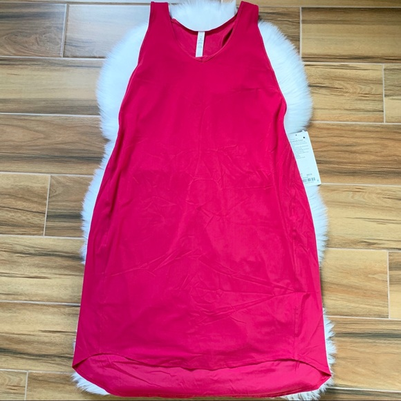 lululemon athletica Dresses & Skirts - Rejuvenate dress lululemon ruby red midi length